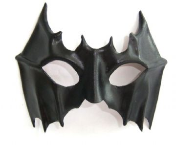 Mens Genuine Handmade Leather Superhero  Bat half Mask (WILL FIT OVER GLASSES)